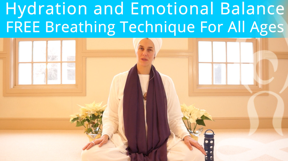 Hydration and Breath Technique For Emotional Balance